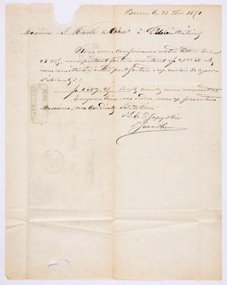28. Oktober 1870, Brief L. E. P. Japy & Cie. (Berne) an S. Marti & Cie (Montbéliard), Inhalt