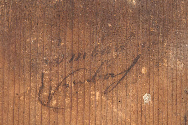 Signatur des Schildermalers Josef Rombach in Eisenbach