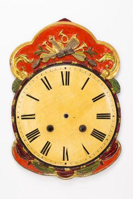 Vergoldetes Lackschild, Fidel Hepting, Furtwangen 1848, nach der Restaurierung