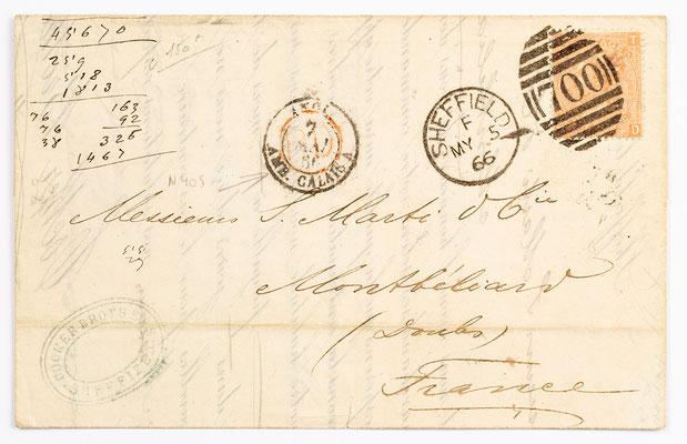 04. Mai 1866, Brief von Cocker Brothers (Sheffielde) an S. Marti & Cie. (Montbéliard)