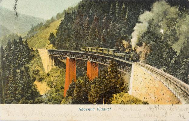 Das Ravennaviadukt, Postkarte von 1908