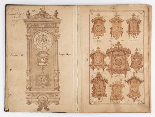 Kuckucksuhr Katalog um 1890, Schwarzwald Seite 2