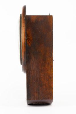 Mathias Behringer, Drop Dial Clock, Langenordnach im Schwarzwald um 1865, Seitenansicht