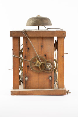 Schwarzwälder Uhrwerk, Alois Dilger, Altglashütte um 1860, Vorderansicht