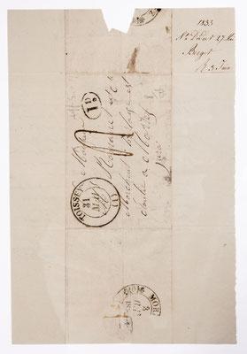 Romanet, horloger Morez 31. Mai 1833, Briefhülle