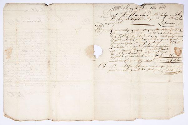 Joseph Augustin Paget, Horloger, Lettre de Morez 04.01.1820, Page 1