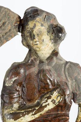Detail Mann, Zustand vor der Restaurierung