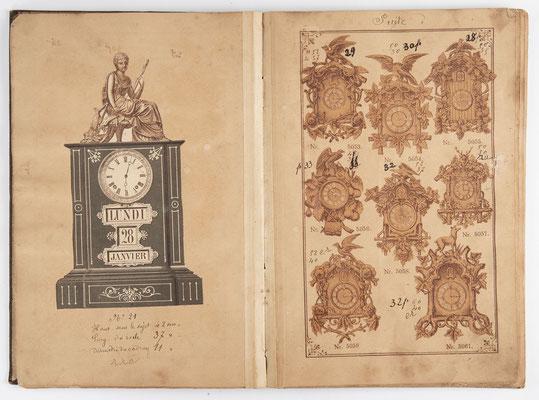 Kuckucksuhr Katalog um 1890, Schwarzwald Seite 7