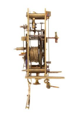 Regulator Uhrwerk, Furderer, Jaegler & Cie, Strasbourg, Seitenansicht von rechts