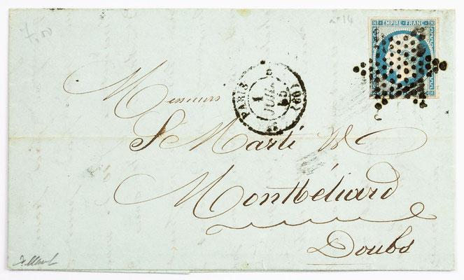 01. Juli 1855, Brief von S. Marti (Paris) an S. Marti & Cie. (Montbéliard)