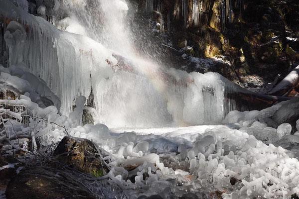 Zweribachwasserfall im Winter