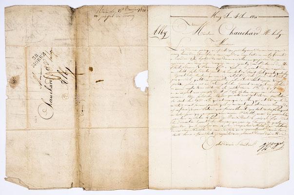 Joseph Augustin Paget, Horloger, Lettre de Morez 04.01.1820, Page 2