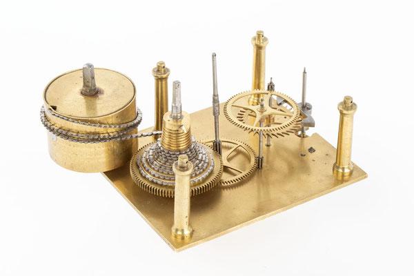 Englisches Uhrwerk, Wiliam A. Sainsbury,  London 1894, Räderwerk