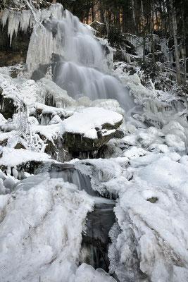 Zweribachwasserfall im Winter (Februar 2021)