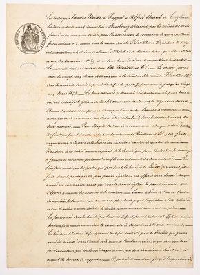 """Gesellschaftsvertrag der Eisenwarenhandlung """"Carl Weiser"""" in Strasbourg vom 20. Januar 1867"""