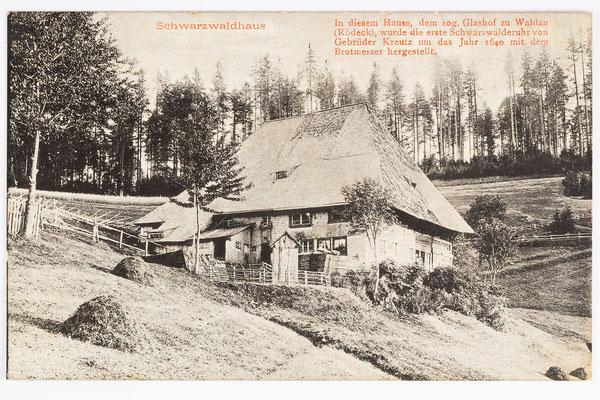 Glashof, Ursprungsort der Uhrmacherei, Postkarte gesendet 04.12.1910