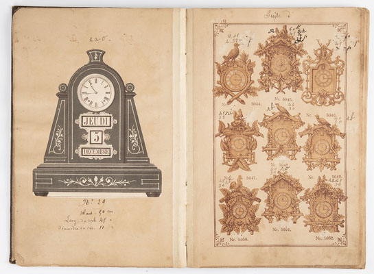 Kuckucksuhr Katalog um 1890, Schwarzwald Seite 6