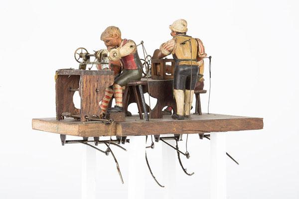 Detailaufnahme der Uhrmacherwerkstatt
