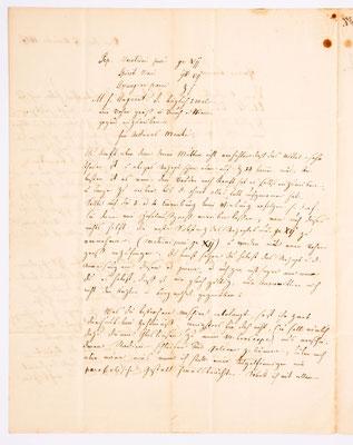 17. November 1837, Brief von I. Seiler (Bern) an Samuel Marti (Montbéliard), Inhalt 2