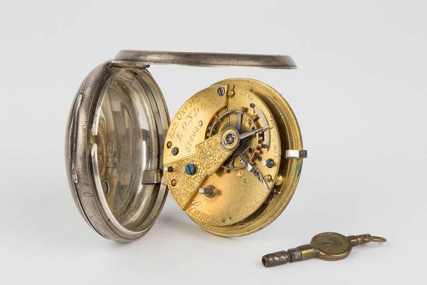 englische Taschenuhr aufgeklappt, Camerer, Kuss & Co, 1880