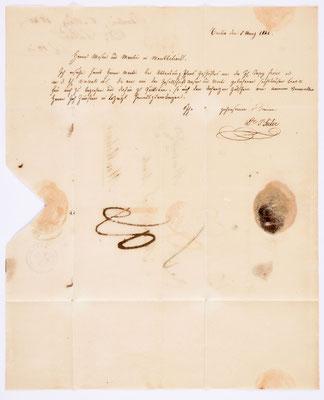 05. März 1840, Bief von Dr. I. Seiler (Berlin) an Samuel Marti (Montbéliard)