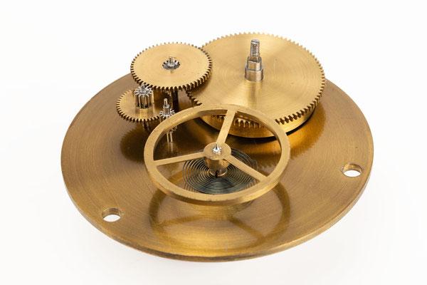 Chronometergang mit Gangfeder, Detailfoto Räderwerk