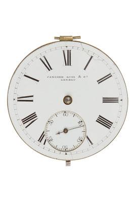 Zifferblatt der Taschenuhr von Camerer, Kuss & Co. (London)