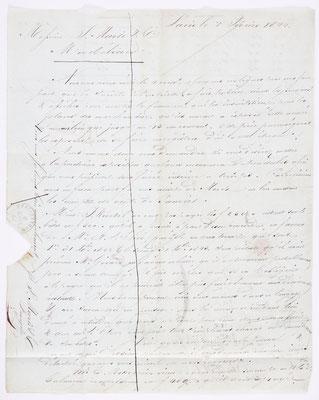 04. Februar 1844, Brief von S. Marti & Cie. (Paris) an S. Marti & Cie. (Montbéliard), Inhalt 1