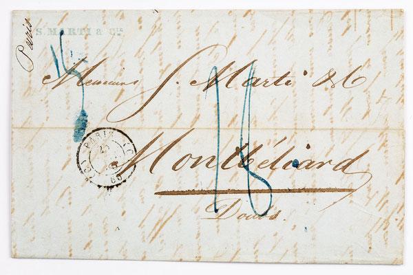 25. Januar 1846, Brief von S. Marti (Paris) an S. Marti & Cie. (Montbéliard)