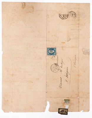 Blondeau-Mayet, fabrique d´horogeie, Morez 1866, Briefhülle