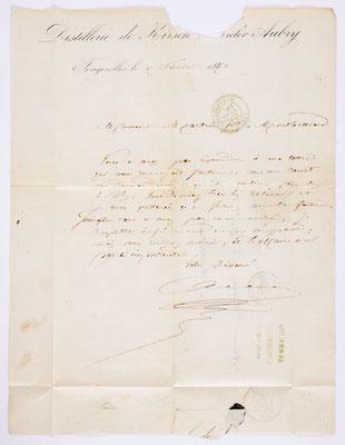 04. Februar 1870, Brief von Aubry Fils (Fougercilles) an S. Marti fils (Montbéliard), Inhalt