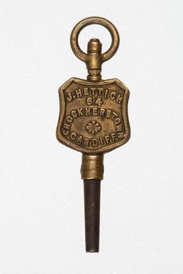 Taschenuhrenschlüssel von J. Hettich in Cardiff