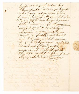 Horloger Louis Ogier, Morez 7.09.1829, Brief Inhalt Seite 2
