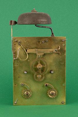 Uhrmacher Jakob Kleiser, 8-Tage Uhrwerk mit Schnecke, Schollach um 1860, Zifferblattseite