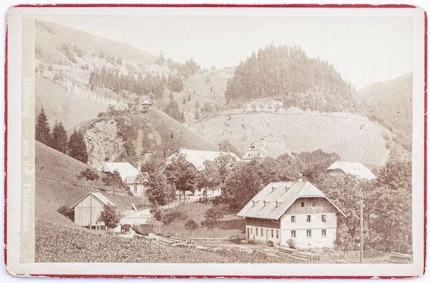 Höllsteig im Höllental von der Talstraße aus gesehen, historisches Foto von um 1880