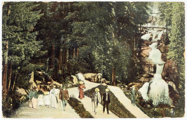 Triberger Wasserfall, Postkarte vom 21.März 1907