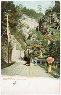 Höllenthal, Hirschsprung Postkarte 15.09.1907