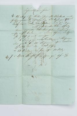 Inhalt Seite 2, Geschäftsbrief Fürderer Jaegler & Cie.,Straßburg 1852