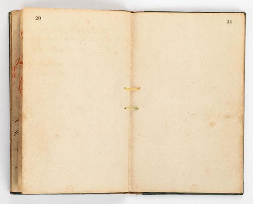 Wanderbuch des Uhrmachergesellen Georg Bilharz von 1849 bis 1851, Kenzingen im Großherzogtum Baden, Seite 20-21