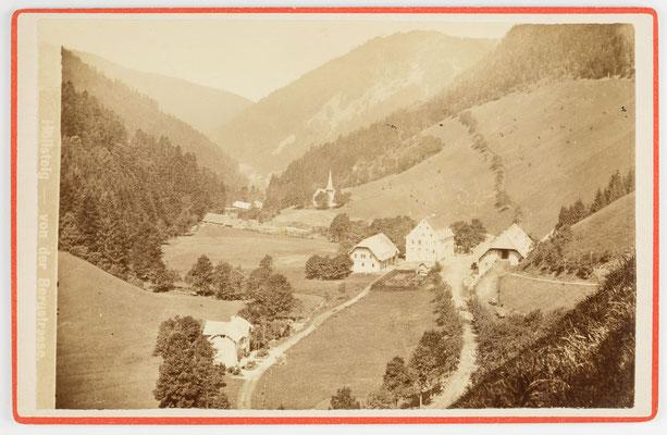 Höllsteig im Höllental mit Gasthaus Sternen, historische Aufnahme um 1880