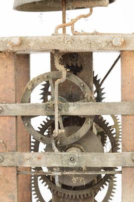 postman's alarm clock, Detail des Uhrwerkes