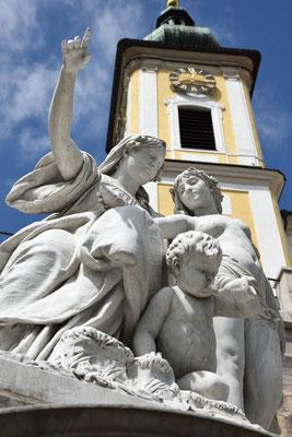 Donauquelle in Donaueschingen, Allegorie der Jungen Donau