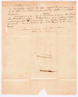 24. Februar 1843, Brief von S. Marti & Cie. (Montbéliard) an S. Marti & Cie. (Paris), Inhalt