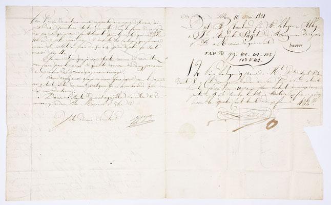 Joseph Augustin Paget, Horloger, Morez 10.05.1821, Page 2