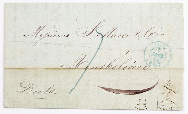 04. Februar 1844, Brief von S. Marti & Cie. (Paris) an S. Marti & Cie. (Montbéliard)