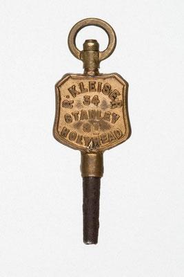 Taschenuhrenschlüssel von R. Kleiser in Holyhead