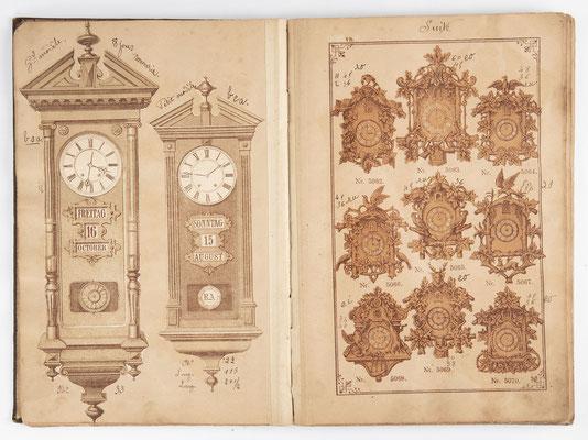 Kuckucksuhr Katalog um 1890, Schwarzwald Seite 8