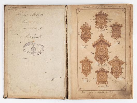 Kuckucksuhr Katalog um 1890, Schwarzwald Seite 1