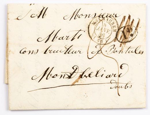 08. Januar 1846, Brief von J.J. Meyer & Cie (Mulhouse) an S. Marti & Cie. (Montbéliard)