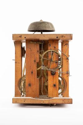Schwarzwälder Uhrwerk, Alois Dilger, Altglashütte um 1860, Rückseite
